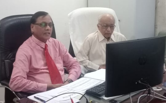 Dr. Arvind-Neral with Padmshree Dr. A. T. dabke on the ocassion of Webinar-1